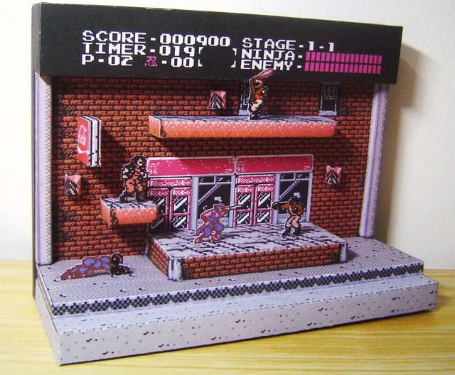 Ninja Gaiden papercraft
