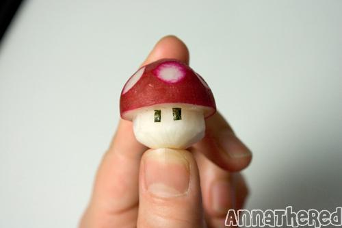 How to make a radish mushroom
