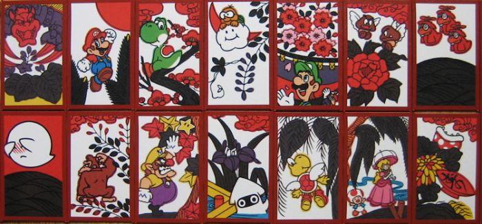 Hanafuda, les cartes Nintendo Mario-hanafuda-001