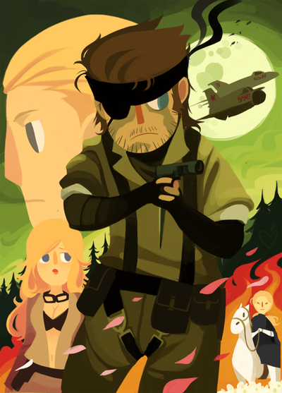 Metal Gear Solid 3 artwork by Peachifruit