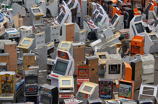 Confiscated video game machines used for gambling (China)