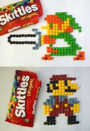 Classic sprites in Skittles