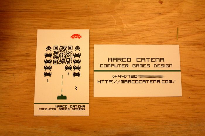 My Computer Games Design course is almost finished. These are the business cards that I've made to give to potential employers.