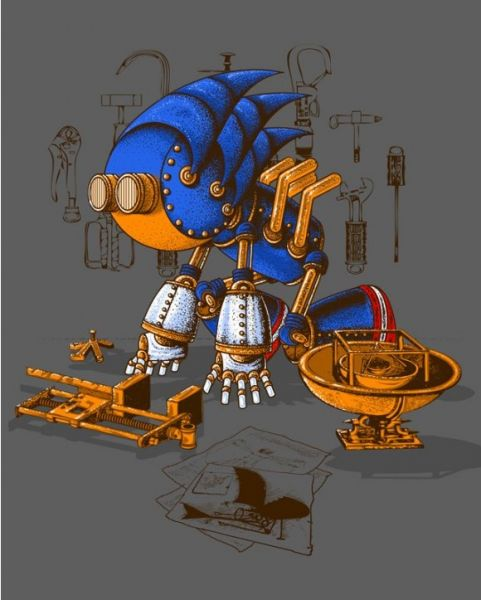 Steampunk Sonic by Vincent Bocognani