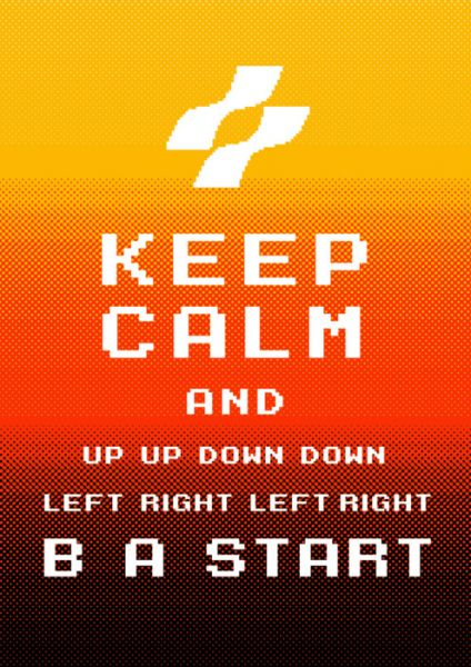 Keep Calm Konami by Dann Matthews
