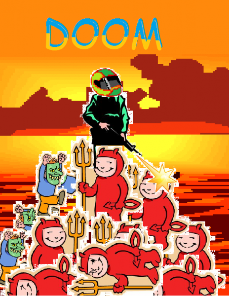 Recreate any Game/Film/Album cover using ONLY Clipart and Comic Sans