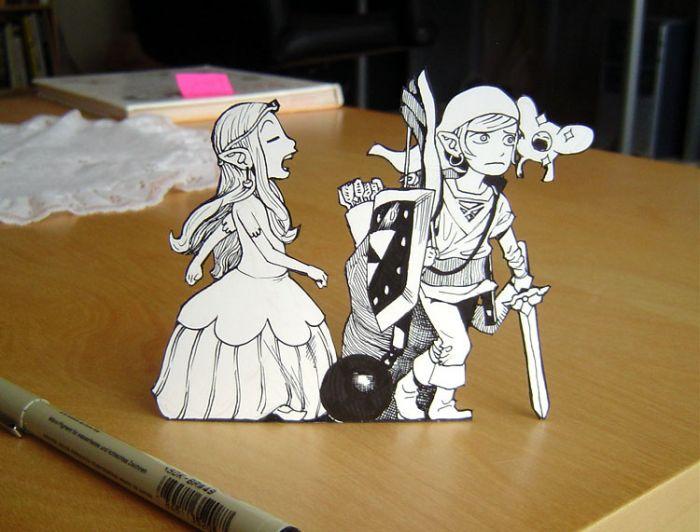 Zelda paper art