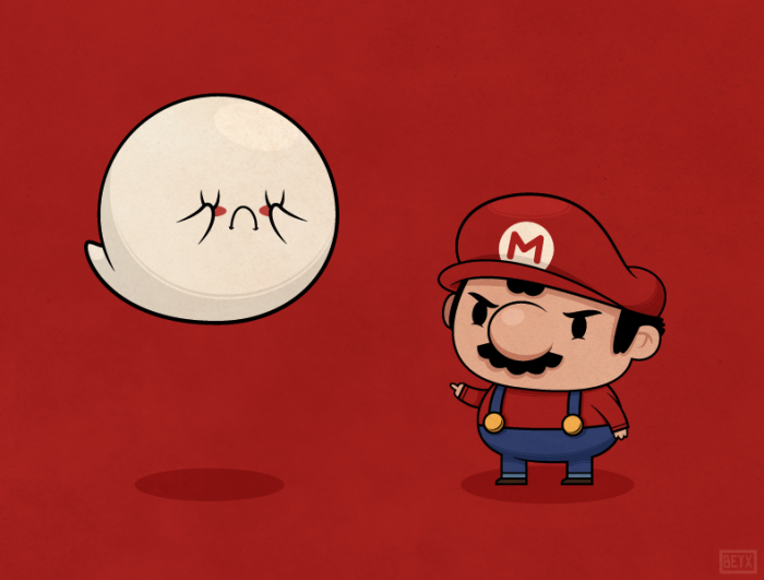 Boo and Mario by Beyx
