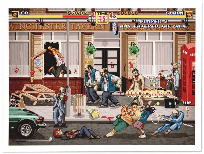Shaun of the Dead transformed into an arcade beat'em up by Aled Lewis