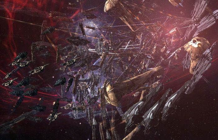 Giant space battle in Eve Online
