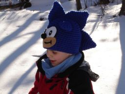 Sonic-Hat on Etsy the hedgehog