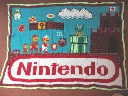 mario tunisian crochet blanket