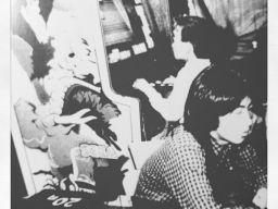 Vintage gaming circa 1984: japanese guy enjoying Appoooh on an Tranquillizer (sic) Gun cabinet