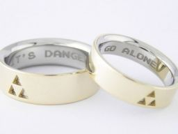 Its Dangerous To Go Alone Wedding Rings