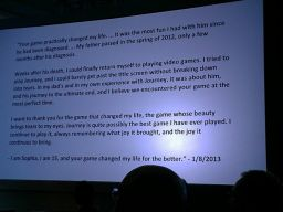 E-mail received by thatgamecompany about Journey (2013 DICE summit)