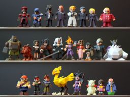 The set is now complete. Update on FF7 low-poly figures.