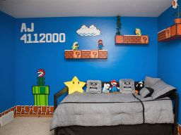 Daughter wanted a Mario Bros themed room... so that's what she got.