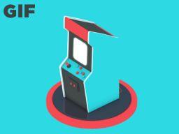 """Arcade Machine"" animated gif byMichael Shillingburg"