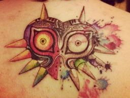 Really nice Majora's mask tatoo